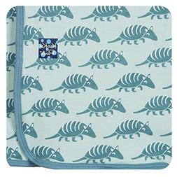 KicKee Pants Print Swaddling Blanket, Aloe Armadillo