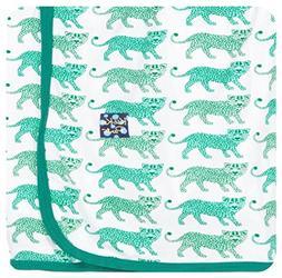 KicKee Pants Print Swaddling Blanket, Natural Leopard