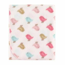 Luvable Friends Printed Fleece Blanket, Birds