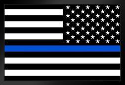 ProFrames American Flag Police Memorial Framed Poster 18x12