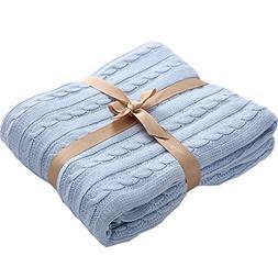 Prosshop Crocheted Blanket Handmade Super Soft Warm Twist Co