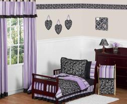 Sweet Jojo Designs 5-Piece Purple and Black Kaylee Girls Tod