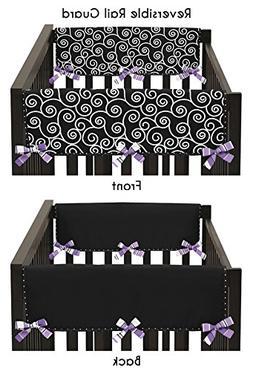 Sweet Jojo Designs Purple and Black Kaylee Teething Protecto