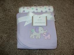 Koala Baby Purple Elephant Receiving Blanket Set Waffle Weav