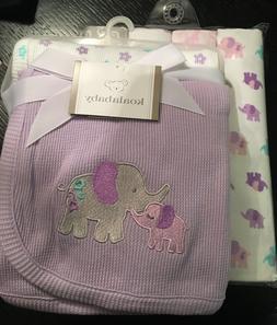 Koala Baby Purple Elephant Receiving Blankets 4pk Set Flanne