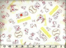QT ~ PEANUTS All Stars Baseball Scetches Snoopy 1 ~ 100% Cot