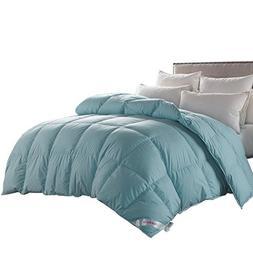 Queen Size Duvet Insert Goose Down Winter Comforter -Solid M