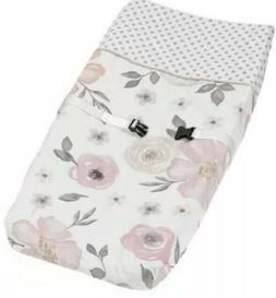 Sweet Jojo Designs Quilted Changing Table Pad Cover  Pink Gr