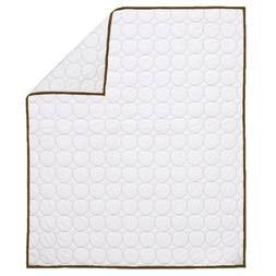 Quilted Circles White/Choc Crib Quilt