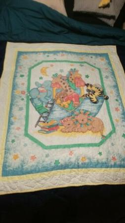 Quilted Play Mat Bed Cover Blanket Baby Blanket Handmade 125