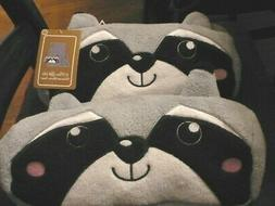 Racoon face baby blanket in pillow case, makes cute throw pi