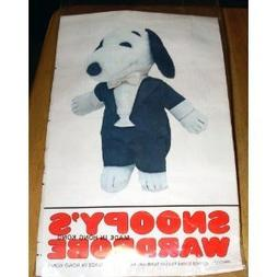 "Rare! Peanuts Snoopy's Wardrobe for 11"" Plush Snoopy - Tuxed"