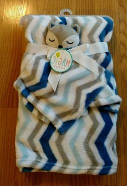 Rashti Rashti Fox Baby Blanket Security Set Infant Blue Gray