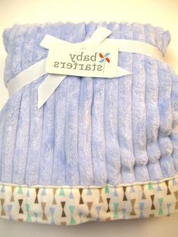 Rashti & Rashti Ribbed Textured Plush Blanket with Patterned