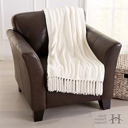 Home Fashion Designs Warm Velvet Plush Throw Blanket with De