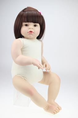 Reborn Bebe Doll 28'' Handmade One Year Old Toddler Silicone