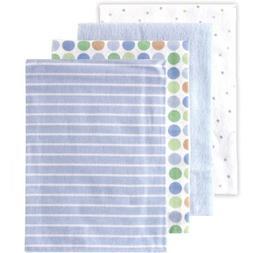 Luvable Friends Receiving Blankets Flannel 4pk Blue