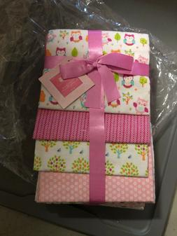 RECEIVING BLANKETS SET 4 COTTON PACK BABY Girl