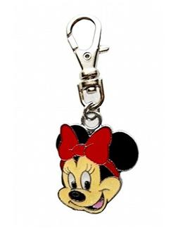 Heavens Jewelry Small RED Minnie Mouse Charm PET Collar Dog
