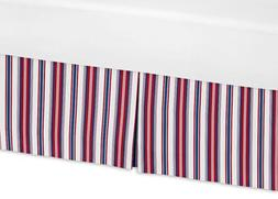 Sweet Jojo Designs Red, White, and Blue Stripes Crib Bed Ski