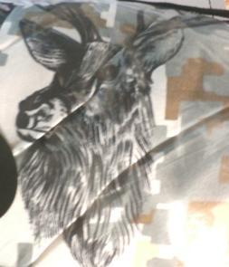 Remington snow camo deer elk  queen 8 pc set comforter shams