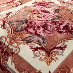 Retro Korean Mink Rose Blanket Thick Warm Heavy Blanket For