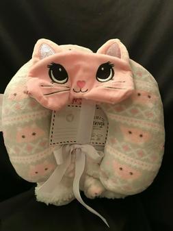 Modern Kids Reversible Blanket Travel Pillow Eye Mask Soft P