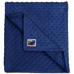 Reversible Unisex Children's Soft Baby Blanket Minky Dot