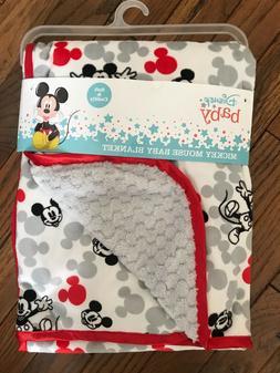 DISNEY BABY REVERSIBLE Mickey Mouse EARS PRINT BABY BLANKET