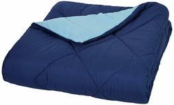 AmazonBasics Reversible Microfiber Comforter - Twin/Twin Ext