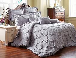 reversible pinch pleat comforter set