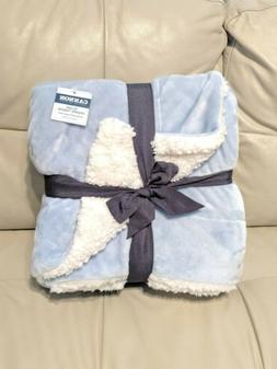 "Cannon Reversible Sherpa Plush Throw Blanket NWT 50""x60"" Bab"