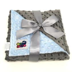 Reversible Unisex Children's Soft Baby Blanket Minky Dot