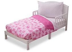 Delta Children Reversible Girls Toddler 4 Piece Bedding Set