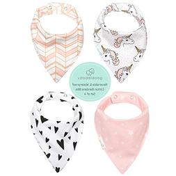 REVERSIBLE & WATERPROOF Cotton Baby Bandana Drool Bibs for G