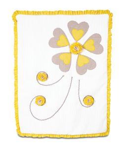 Pavilion Gift Company Ribbed Chenille Baby Blanket, Sunshine