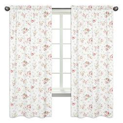 Sweet Jojo Designs 2-Piece Riley's Roses Window Treatment Pa