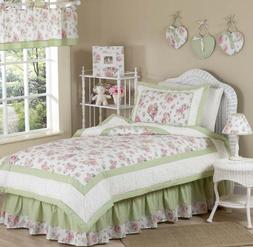 Sweet JoJo Designs Riley's Roses Floral 4-piece Girl's Twin-