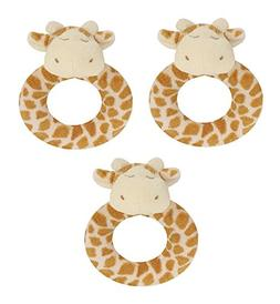 Angel Dear 3 PCS Ring Rattles Set, Giraffe