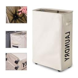 Rolling Foldable Laundry Hamper Drity Basket Sorter Home Cor