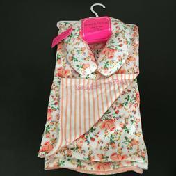 Betsey Johnson Rose Floral Baby Blanket & Neck Support Pillo