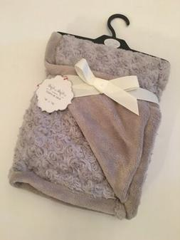 Rose Swirl Baby Blanket Grey