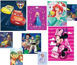 "Disney Plush Raschel Throw Crib Travel Blanket 40"" X 50"" Tod"