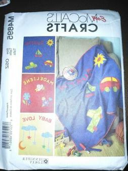 Mccall's Easy Crafts M4895 Baby/Child Fleece Blanket Alphabe