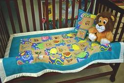 """""""Safari Animals on a Train"""" Quilted, Blanket,Well Made for B"""