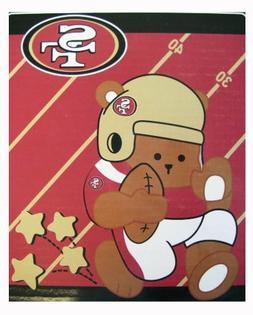 San Francisco 49ers Royal Plush Baby Blanket