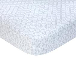 Carter's Sateen Gray Trellis Crib Sheet