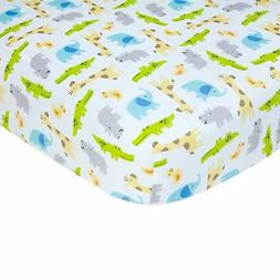 Carter's Sateen Multi Safari Crib Sheet