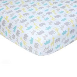Carter's Sateen Neutral Safari Crib Sheet