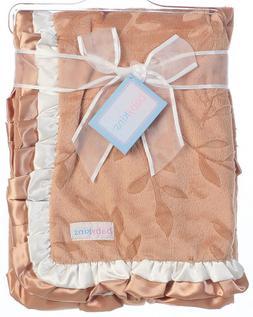 Satin Velour Baby Blankets Brown Yellow Newborn 33 X 43 Mult